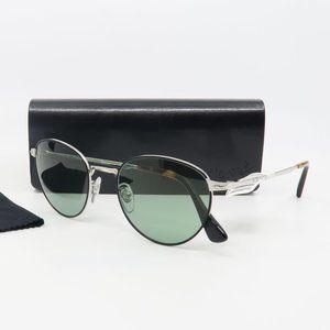 2445-S 1074/52 Persol Silver/ Green Round Sunglass